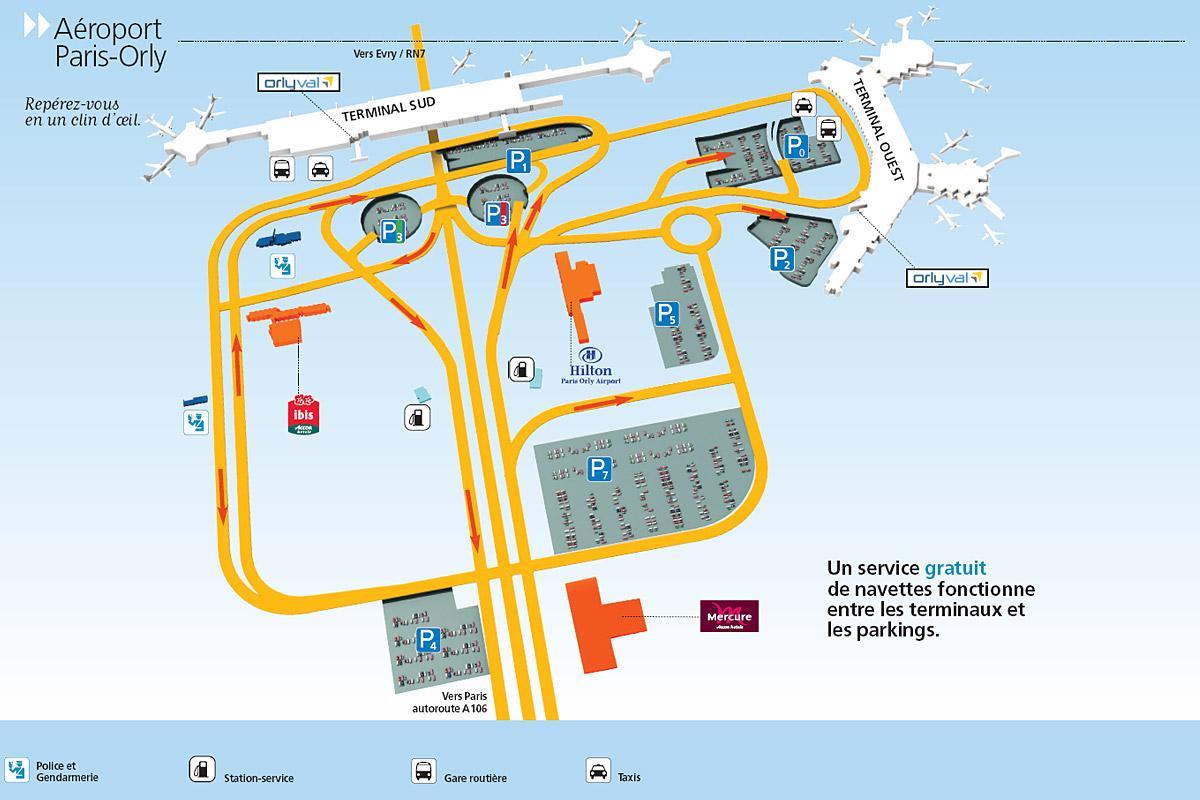 Схема аэропорта Орли