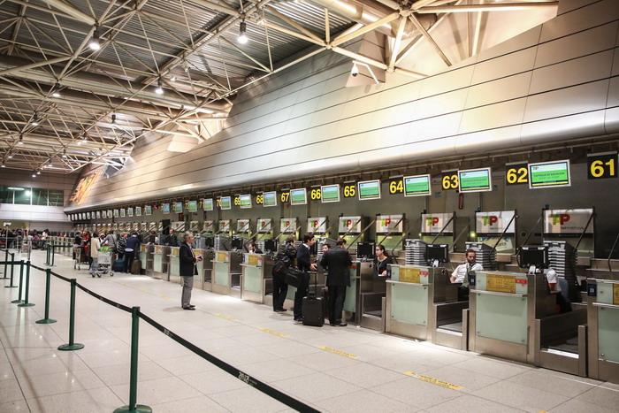 Стойки регистрации в аэропорту