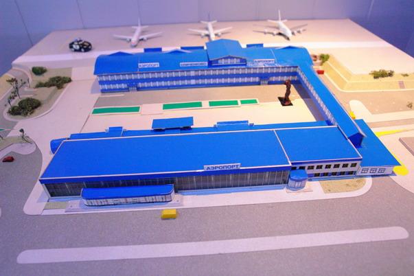 На схематическом изображении аэропорта видны все здания, размещенные на территории аэровокзала