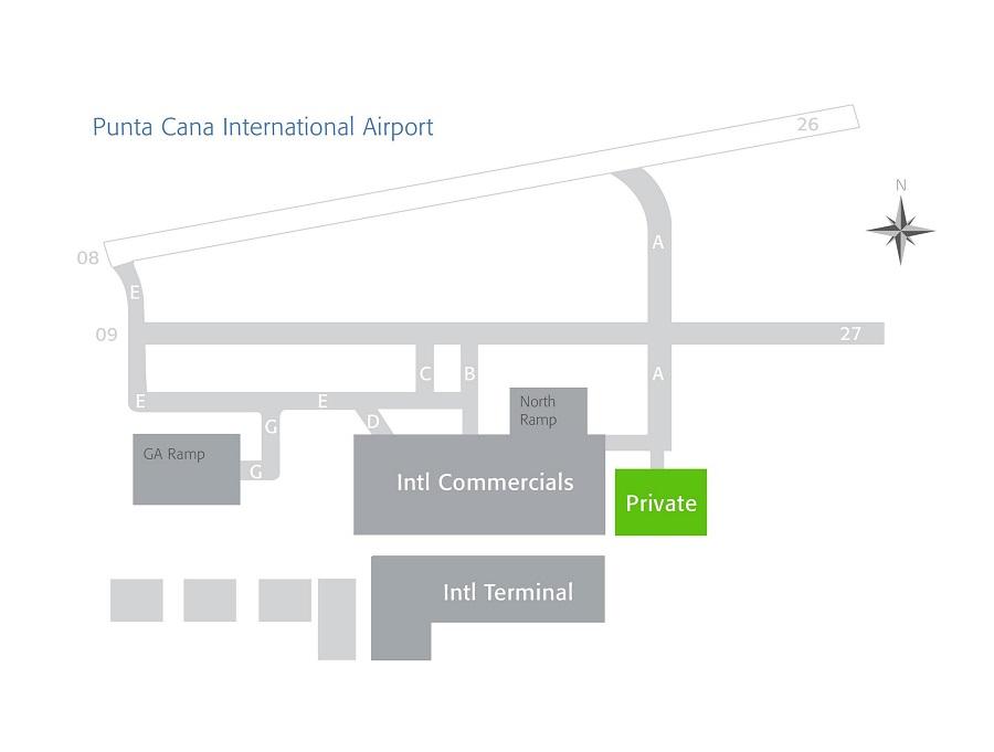 Схема аэропорта в Пунта-Кана