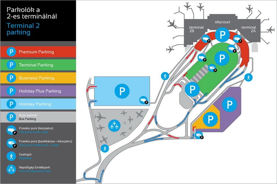 Карта парковок в аэропорту