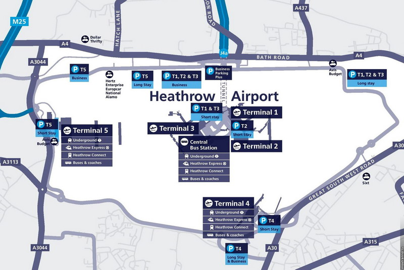 Схема аэропорта Хитроу