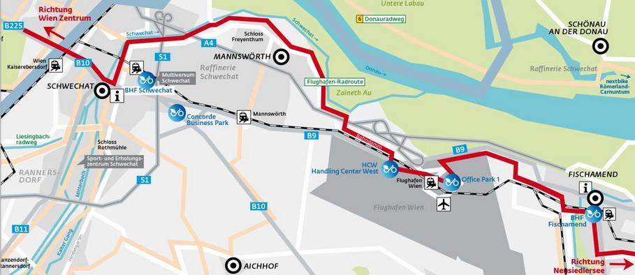 Маршрутная сеть между Веной и аэропортом