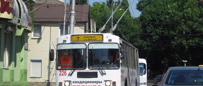Троллейбус № 7 из аэропорта в Краснодар