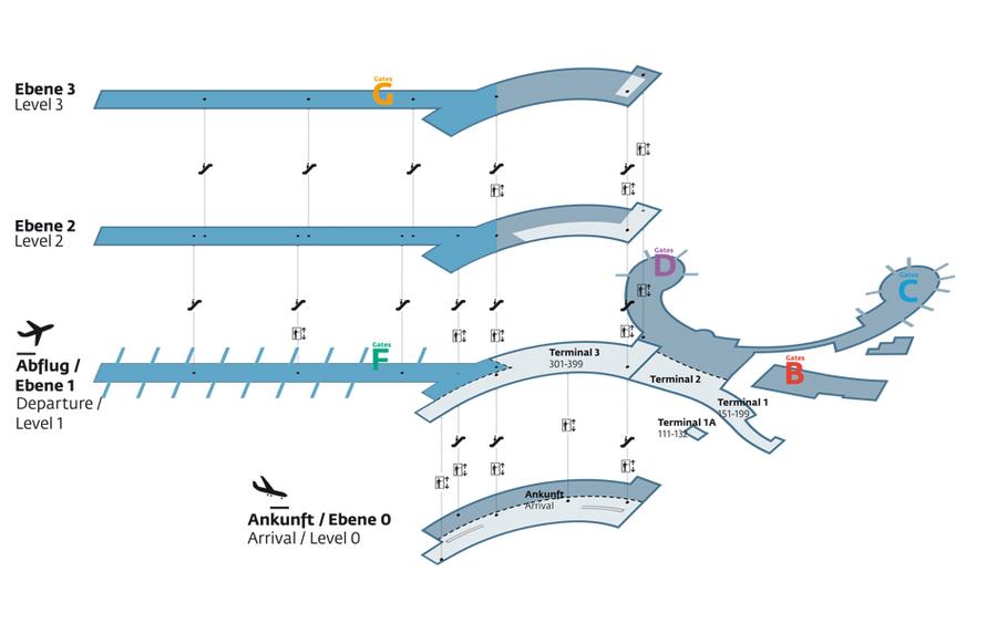 Схема венского аэропорта