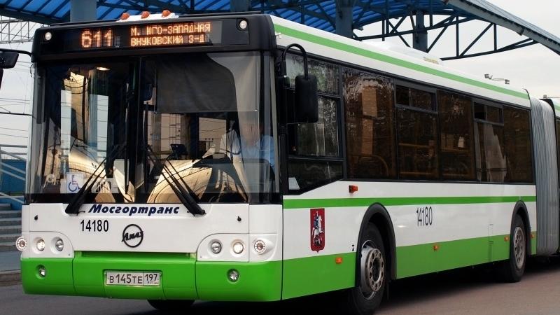 Автобус – народный вид транспорта, довозящий до аэропорта Внуково