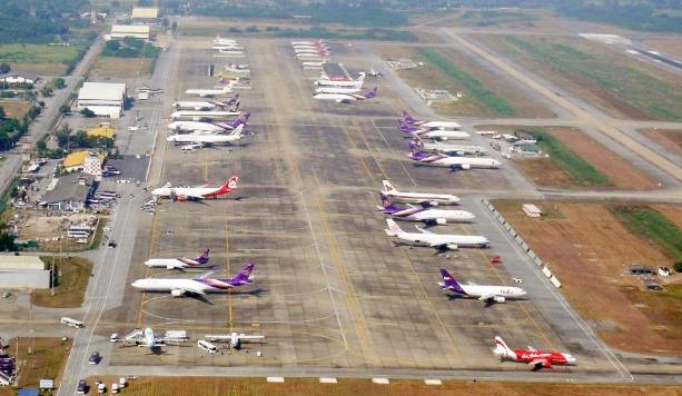 Стоянка самолетов в Утапао