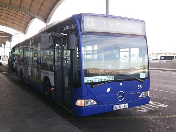 Как добраться до Аликанте из аэропорта, автобусный маршрут С6