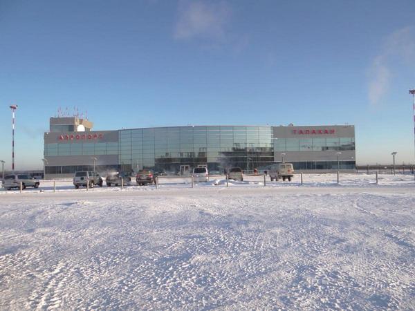 Аэропорт в зимнее время года