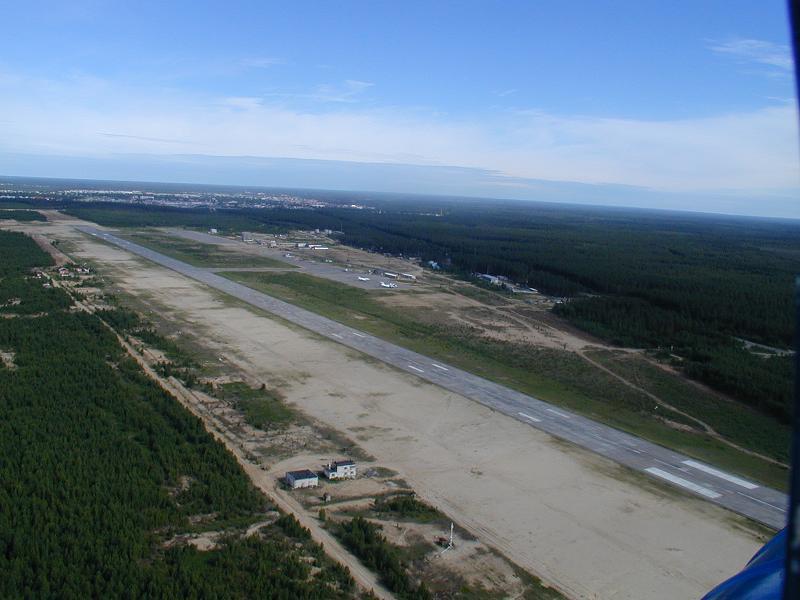 Аэропорт Советский с высоты птичьего полета