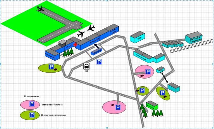 Схема территории аэропорта