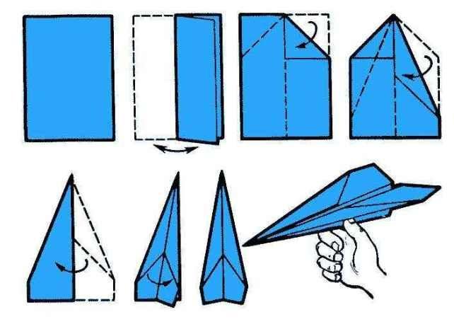Способ изготовления самолёта из бумаги №2