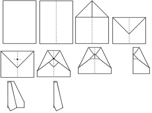 Способ изготовления бумажного самолёта №3