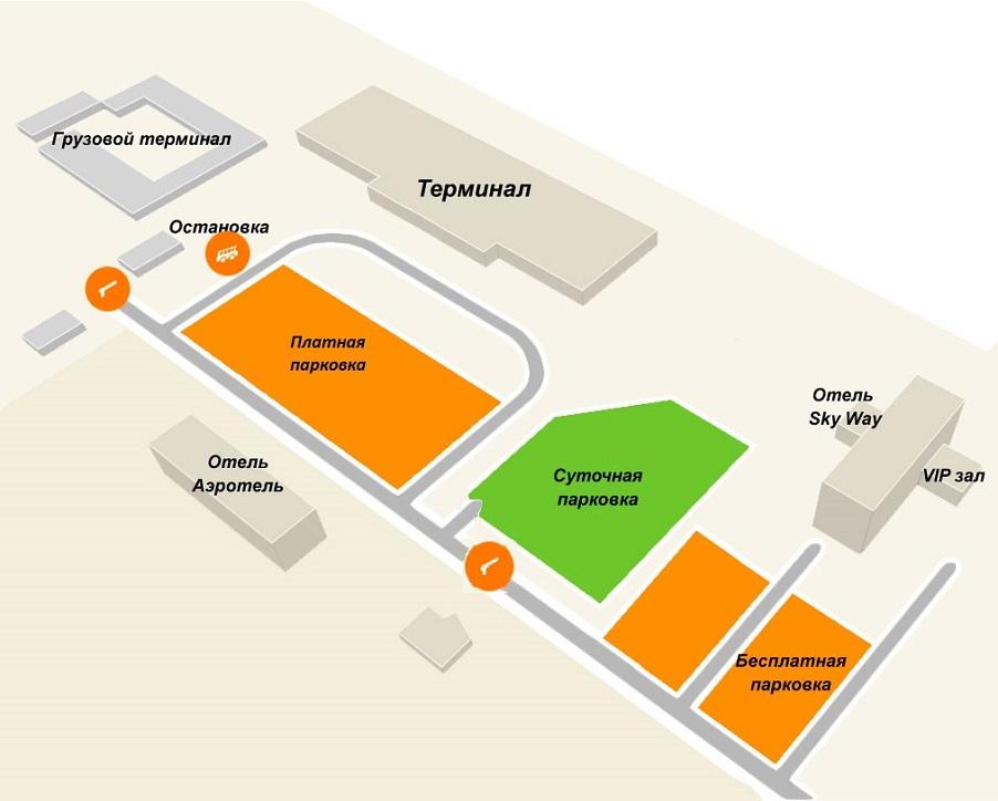 Схема аэропорта «Богашево»