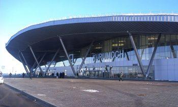 Здание аэропорта Курумоч выглядит внушительно