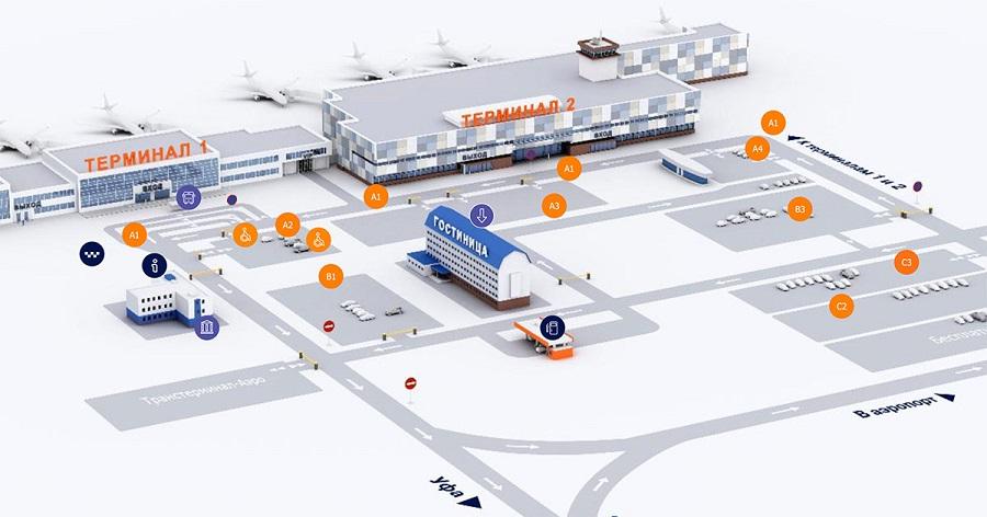 Схема парковки у терминалов