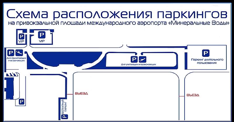 Схема парковок аэропорта