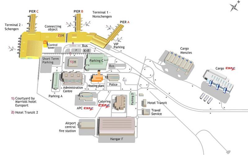 Полная схема аэропорта