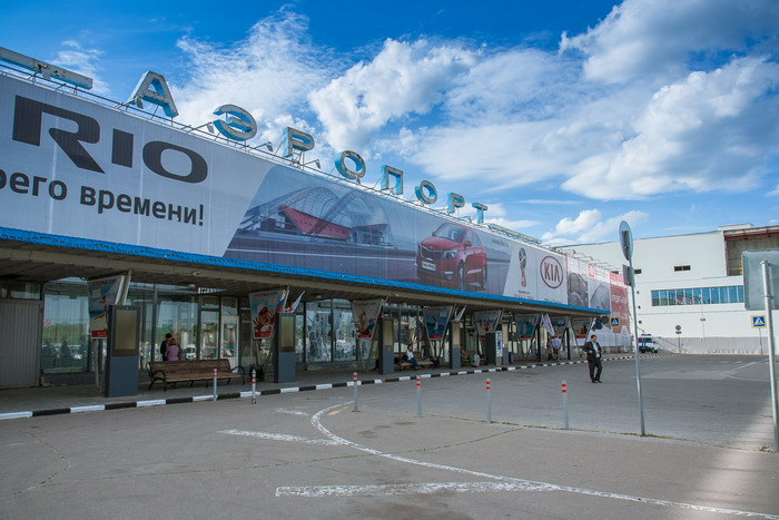Возле аэропорта «Стригино»