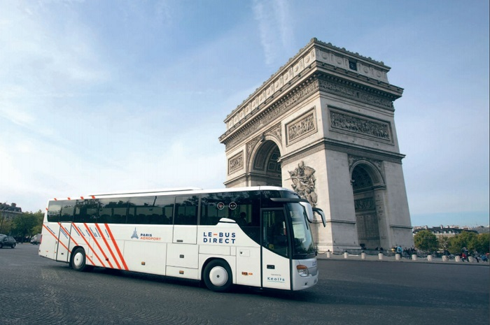 Автобусы Le Bus Direct из воздушного порта Шарль де Голль в Париж