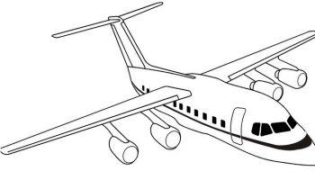 Нарисованный карандашом самолет
