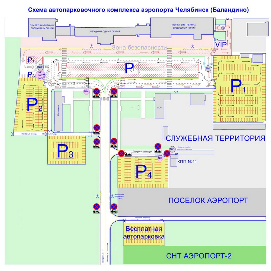 Схема автопарковочного комплекса в Баландино