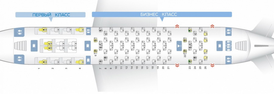 Схема верхней палубы а380
