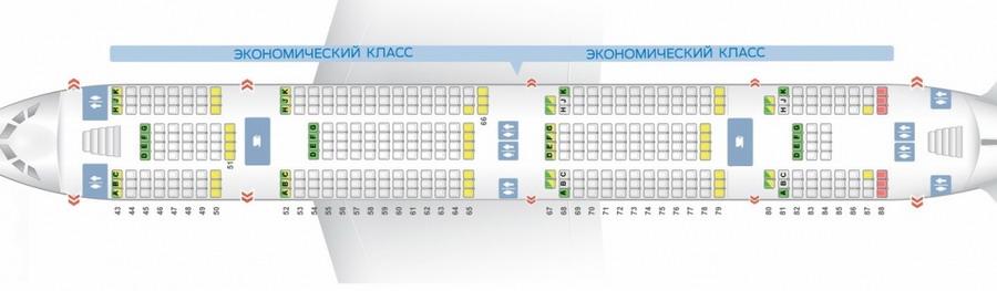Схема нижней палубы самолёта а380