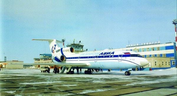 Посадка в аэропорту Новый Уренгой