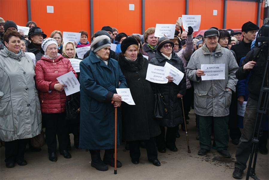 Жители Быкова протестуют против генерального плана
