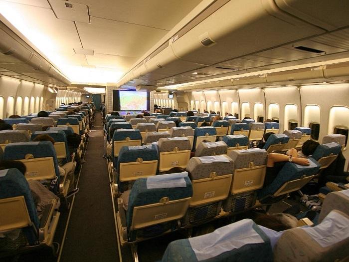 Размещение пассажиров класса эконом