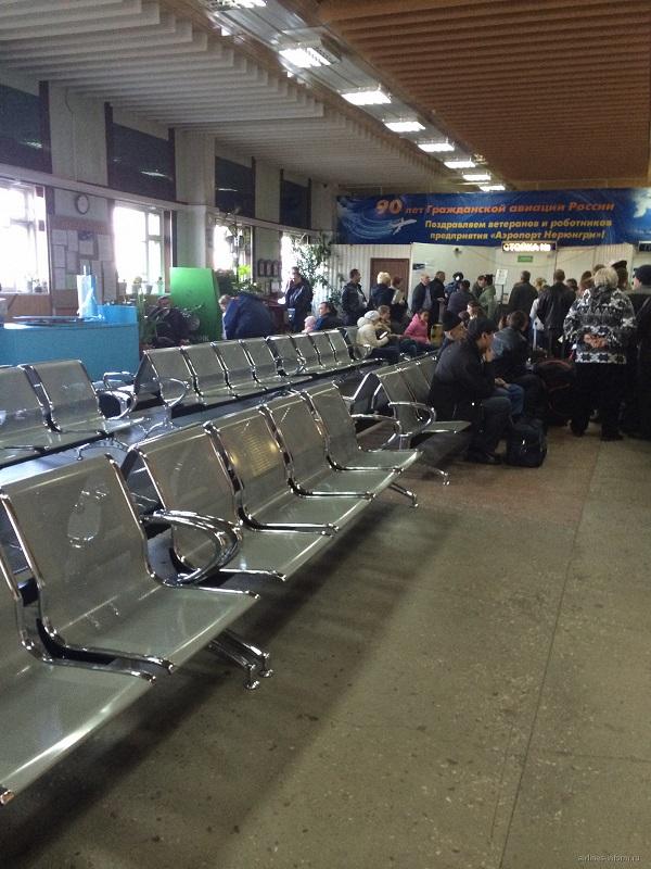 Зал ожидания в аэропорту Нерюнгри