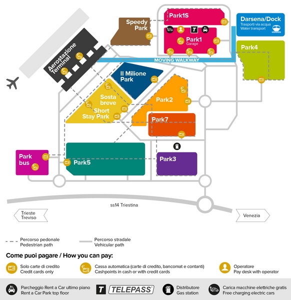 Схема парковок у аэропорта