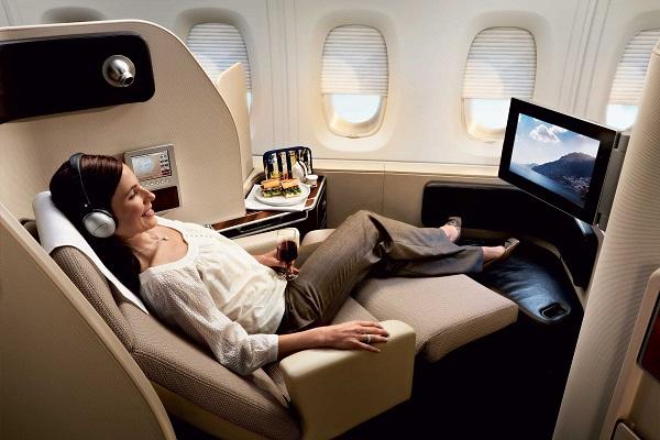 Использовать мили можно на полеты бизнес-классом в самолете