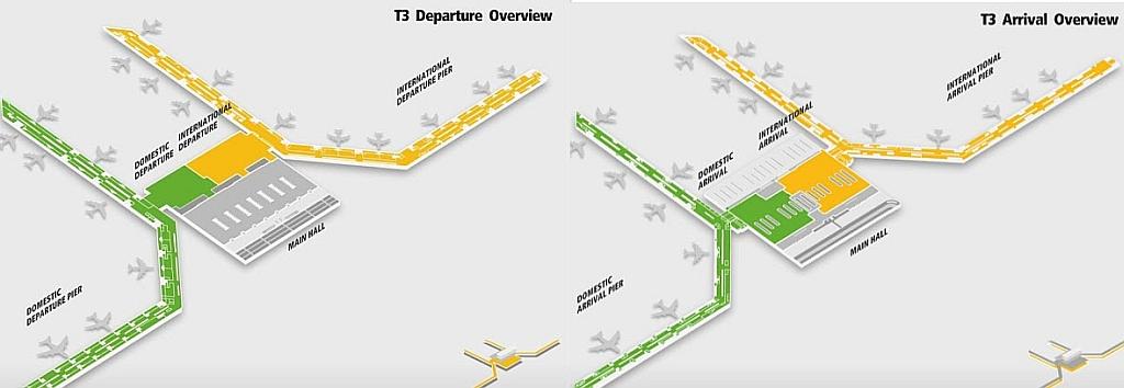 Схема авиатерминала 3