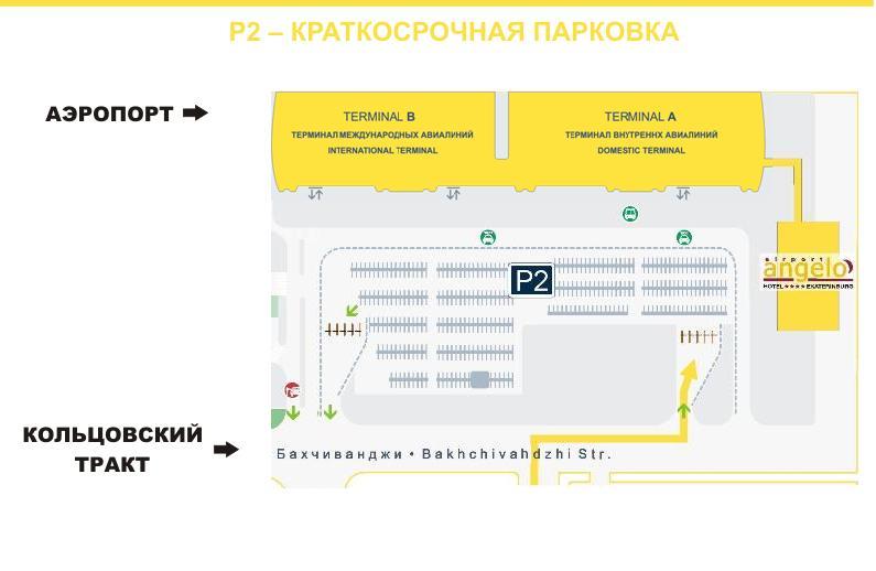 Вип-парковка аэропорта Екатеринбурга, схема
