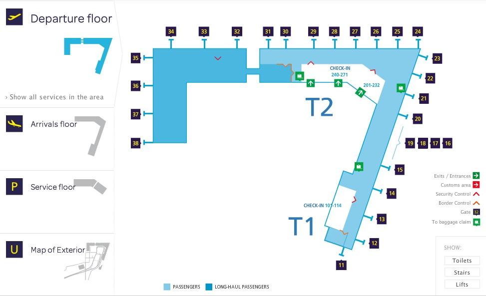 Схема аэропорта Вантаа