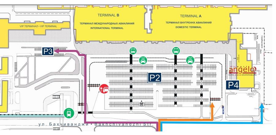 Схема расположения парковки Р4