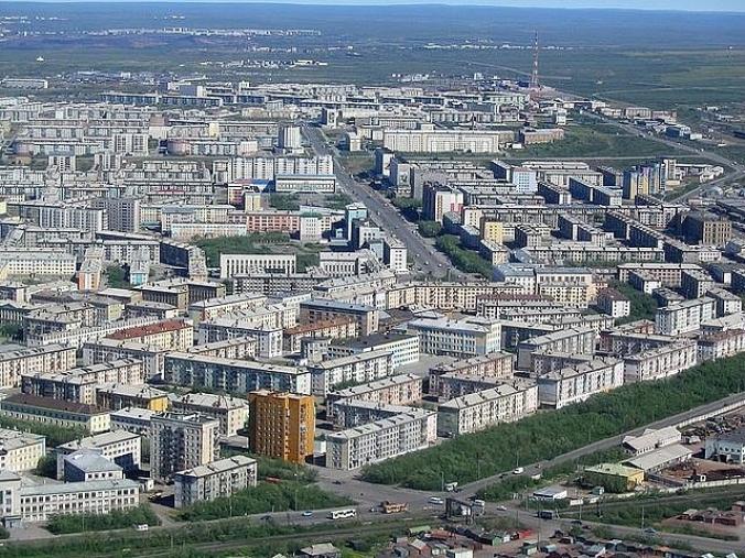 Воркута, панорама города