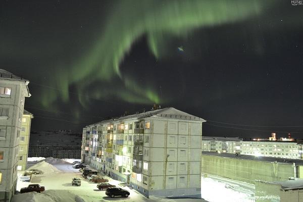 Полярная ночь в Воркуте