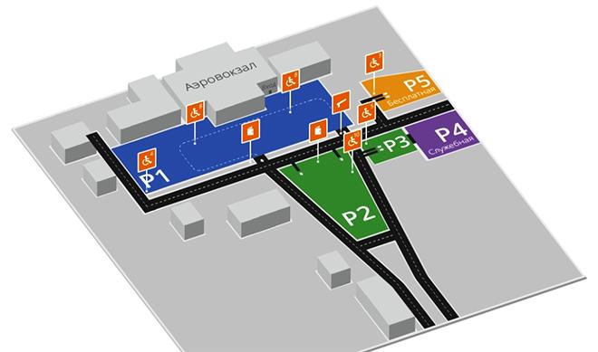 Схема размещения парковок в «Рощино»