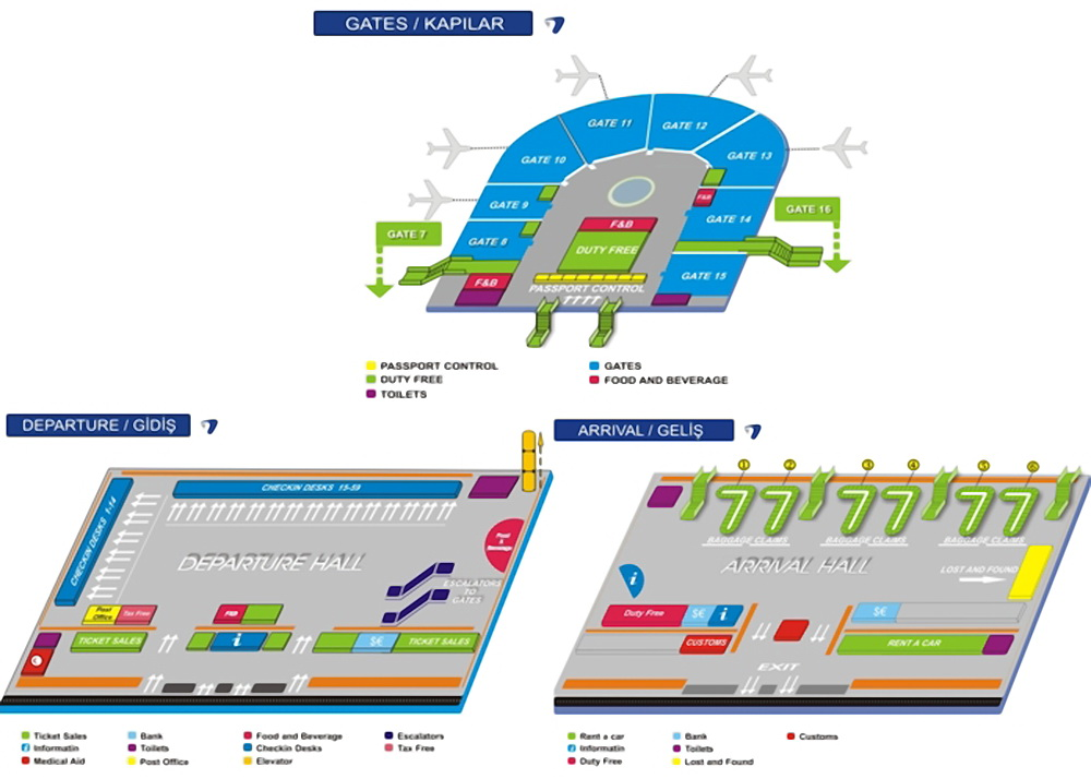 Схема аэропорта Анталья