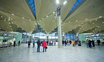 Аэровокзал Пулково, вид изнутри