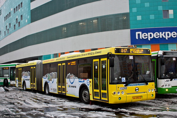 Автобус №817, ездящий по маршруту Планерная – Шереметьево