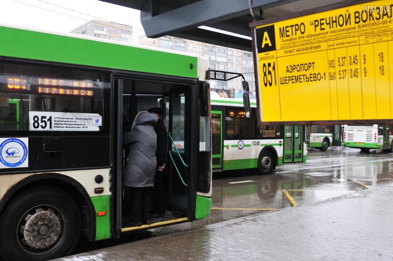 График движения автобуса 851 можно изучить непосредственно на остановке