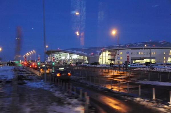 Подъезд на территорию аэропорта