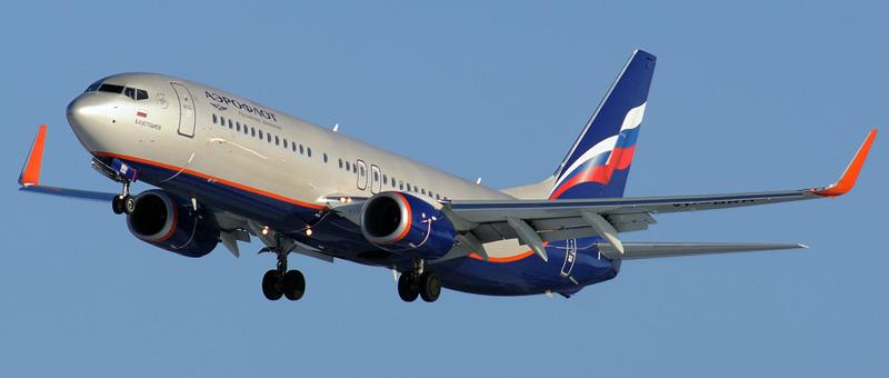 Боинг 737800 в полете