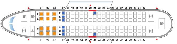 Схема салона Боинга 737 800