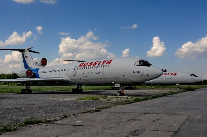 Последнее фото легендарных Ту-154 в «Пулково»