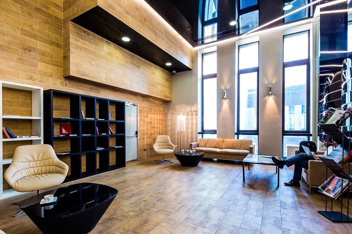Внутри бизнес-зала Business Lounge аэропорта «Пулково»